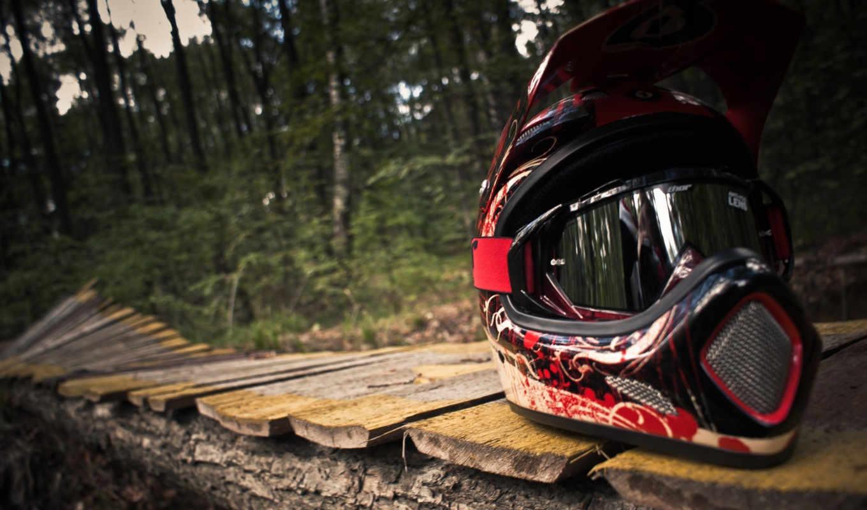 шлем, маунт, байкинг, freeride, лес, велосипед, дорожка, байк, спорт,