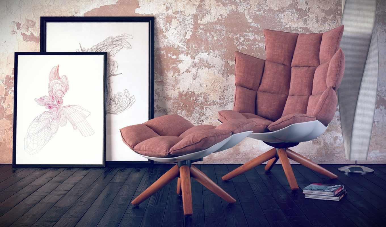 кресла,картины,стена,пол,книги,