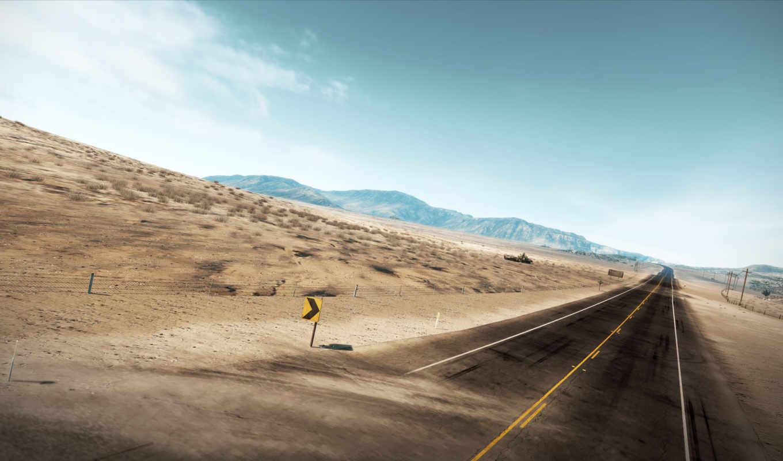 дорога, пустыня, трасса, совершенно,