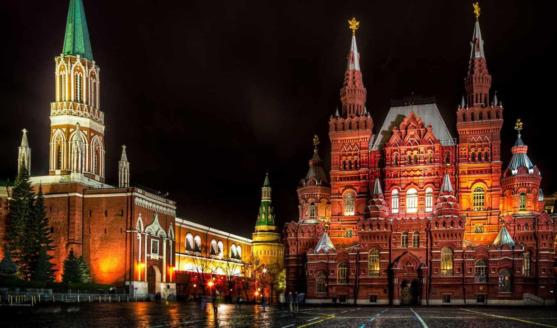 красная, россия, москва, площадь, взгляд, башня, никольская,