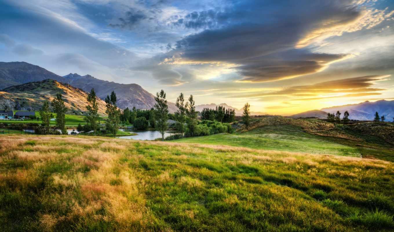 новая, zealand, количество, природа, landscape,