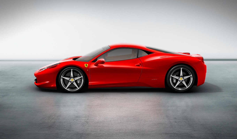 ferrari, italia, new, car, лопата, red,