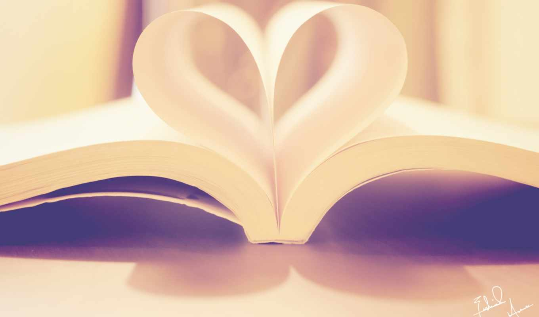 сердце, книга, стол