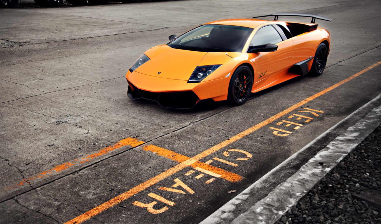 lamborghini, машина, красивая, авто, оранжевая, автомобили, красивые, диски, фары, суперкар, машины,