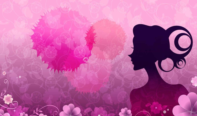 vector, women, pink, flowers, rosa, цветы, best, hintergrundbilder, fonds, ecran, les, рисунок, девушка, blüten, roses, frauen, узор, femmes, fleurs,