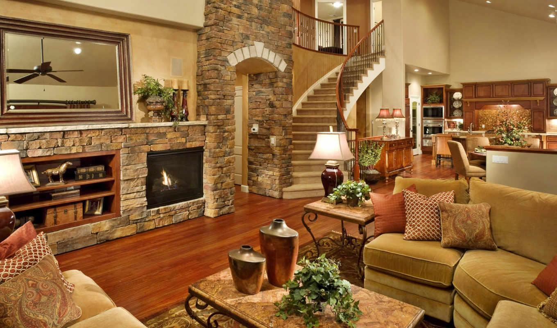 living, интерьер, design, комната, камин, лестница, гостиной, под, ванная,