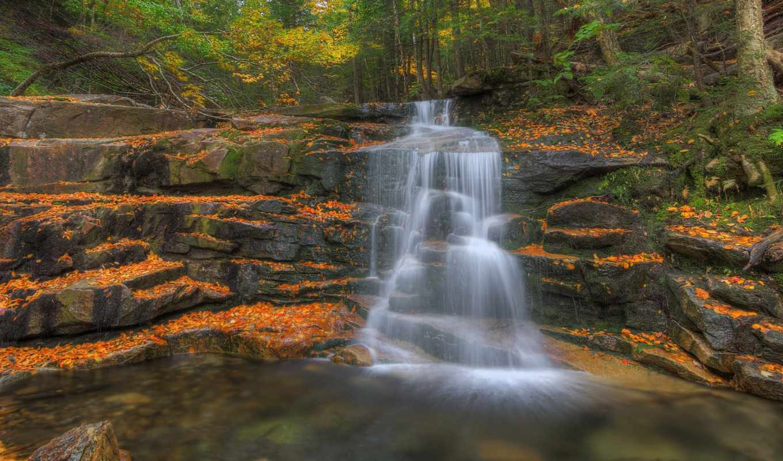 природа, категории, скалы, водопад, деревя,