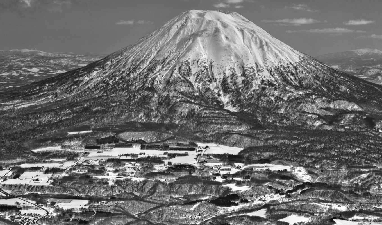 япония, black, niseko, white, азия, снег, yotei, mount, hokkaido,