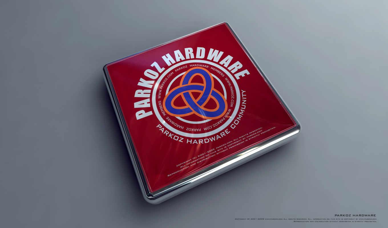 parkoz hardware community, лого, 3Д, прямоугольный