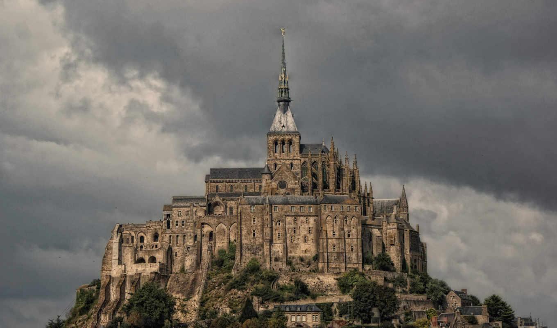 mont, санкт, michel, франция, castle,