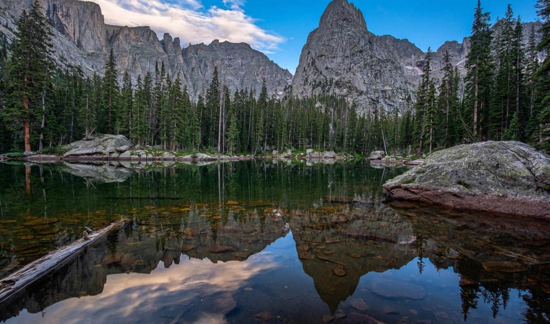 зеркало, озеро, colorado, высоком, разрешений, отличном, марта, качестве,