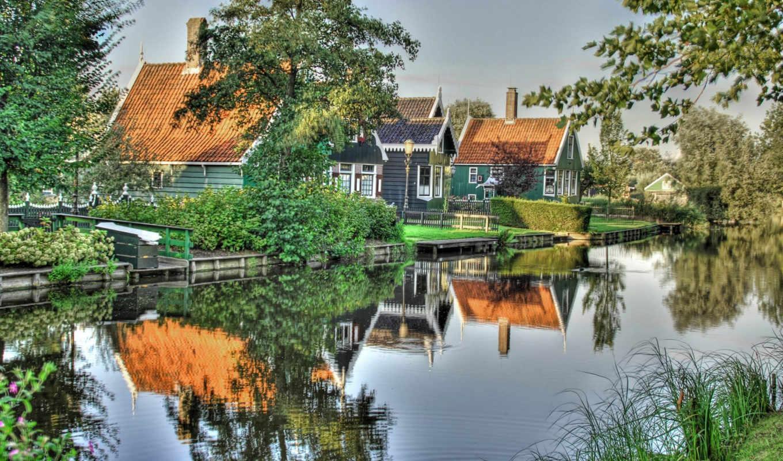 вода, дома, зелень, картинка, download, lake, cityscapes, photography, image, desktop, this, houses,