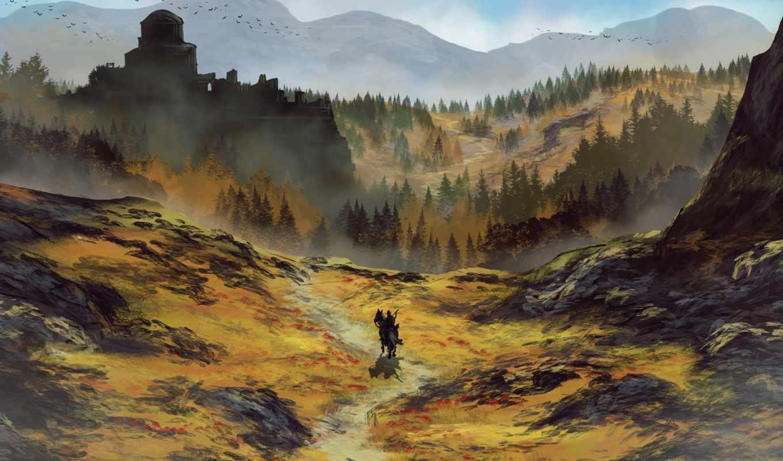 art, конь, community, landscapes, горы,