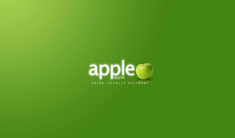 parede, papel, verde, apple, para, celular, maça, sobre,