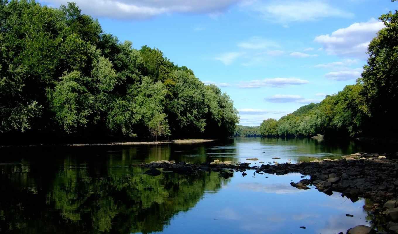 природа, река, горы, лесная, небо, лес, красивая, reki, summer,