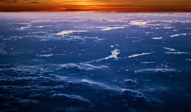 mac, retina, pro, горизонт, облако, sun