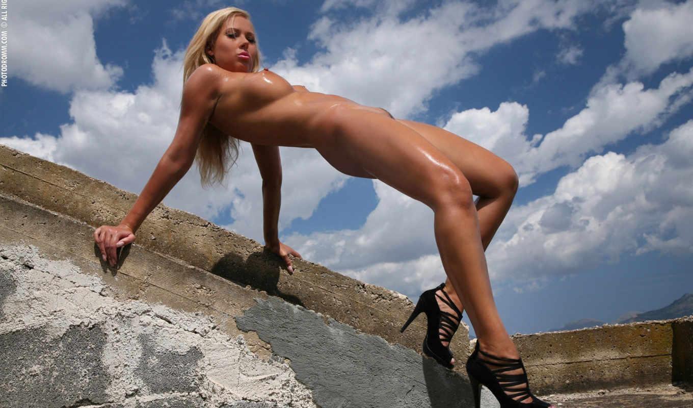 nicole, jarosova, блондинка, горячая, очень, горы, hot, небо, nude,