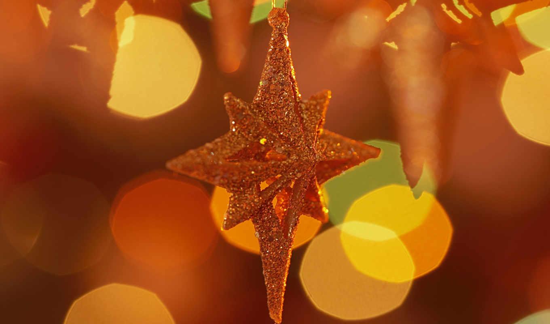 new, год, оранжевый, праздник, star,