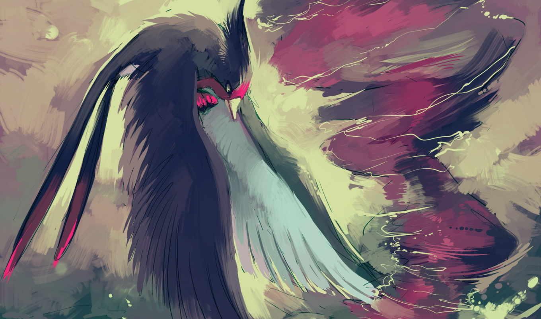 pokemon, anime, торнадо, птица, крылья, уранаг,