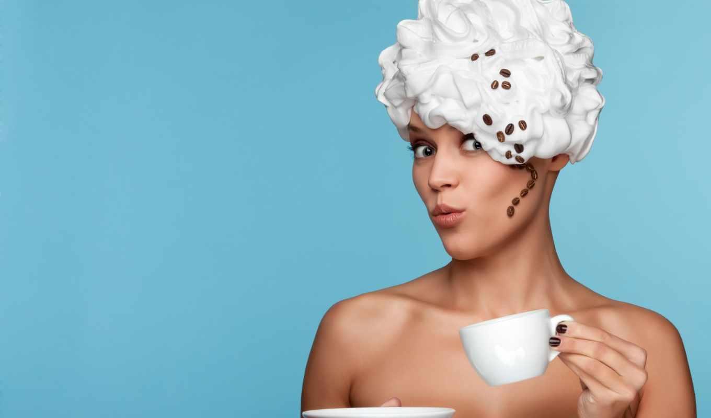 девушка, мороженое, coffee, растровый, эффектная, взбитыми, клипарт, сливками, сигарой, голова,
