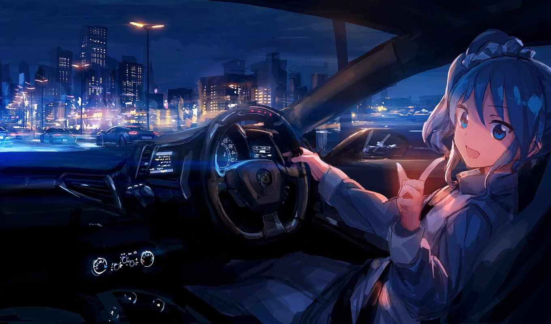 anim, anime, авто, город, ночь, car, sleeper, rail, coub, narrow