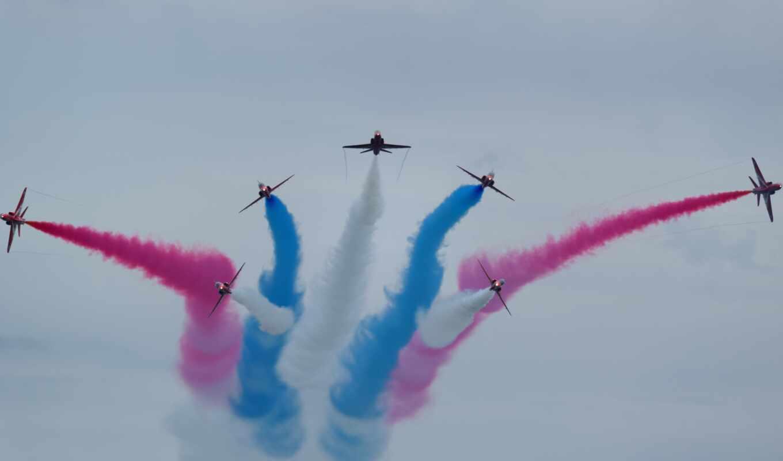 air, самолёт, показать, авиашоу, color, plane, реактивный, красивый, военный, airplane, дым