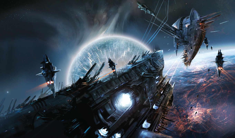 space, lost, empire, immortals, game, war, download, futuristic, scene,