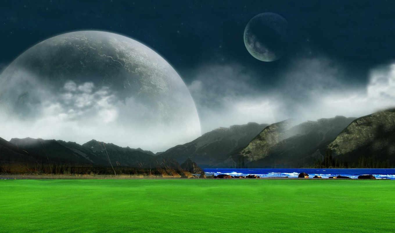 green, landscape, fantasy, dreams, background, pictures, desktop, images,