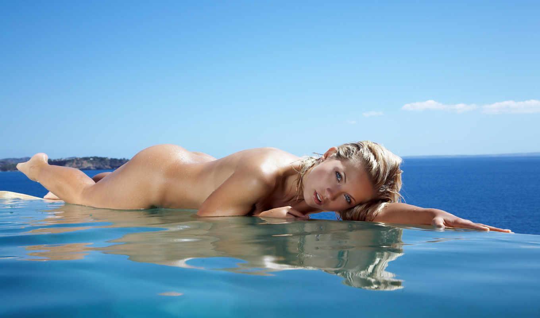 jenni, gregg, эротика, blonde, sexy, бассейн, tits, kohoutova, water,