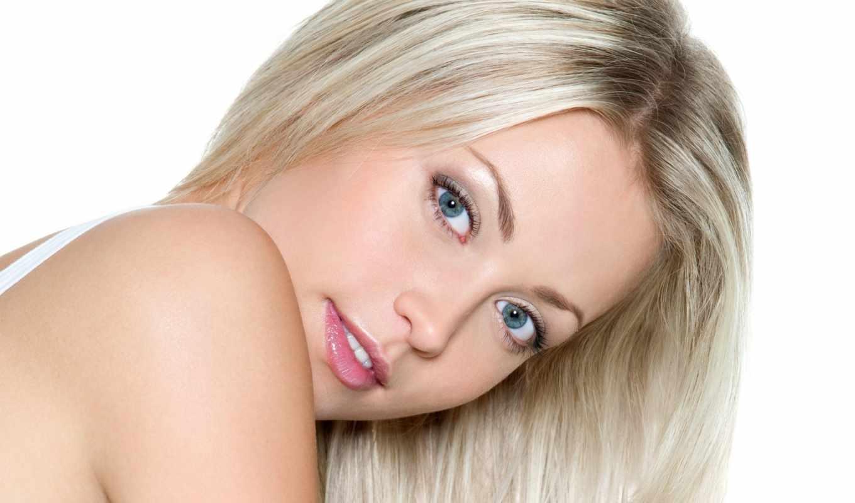 глазами, блондинок, голубыми, макияж,