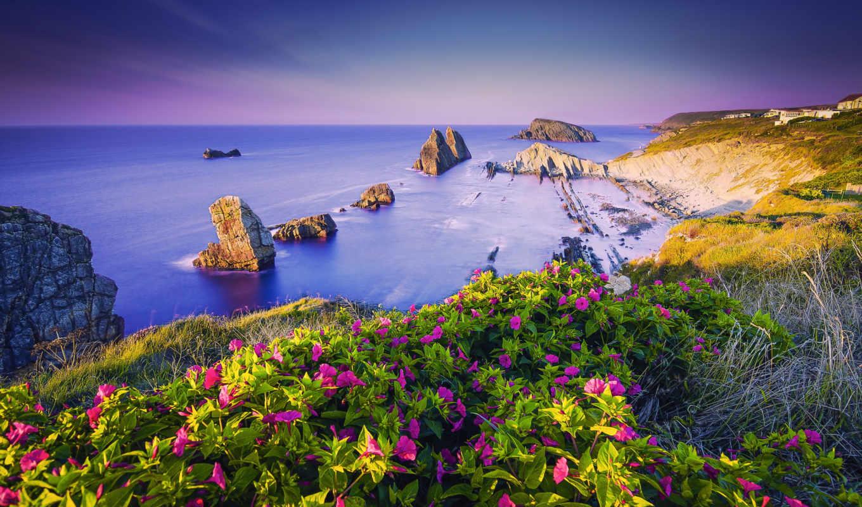 пляж, desktop, испания, побережье, android,
