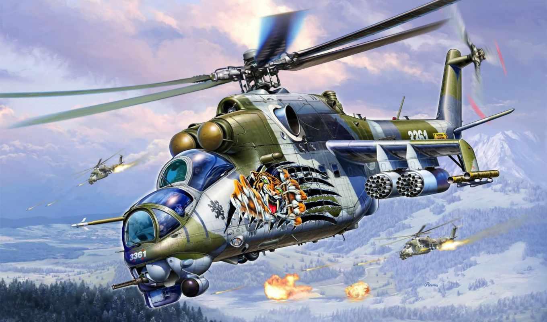 ми, вертолет, soviet, combat, mile, транспортно, вертолеты, рисованные, авиация, разработки,