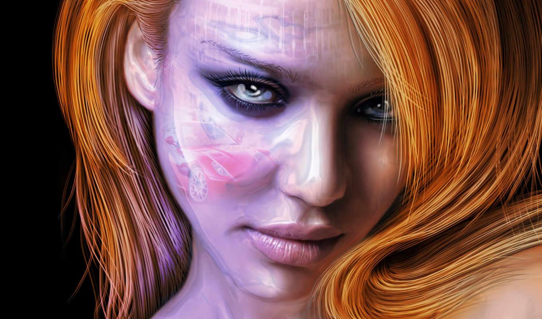 jessica, alba, взгляд, глаза, лицо, волосы, широкоформатные, красивые, девушки, desktop, fantasy, высоком,