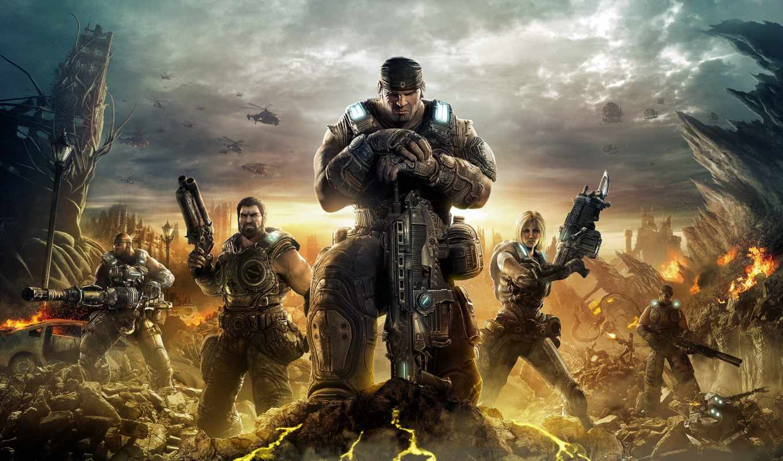 солдаты, бойцы, воины, max, war, gears,