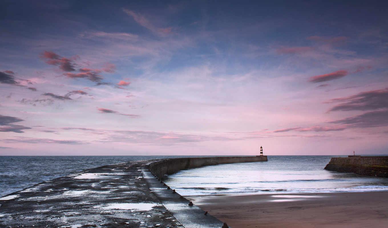 lighthouse, рисунки, pier, фотографий, hintergrundbild, faro, море,