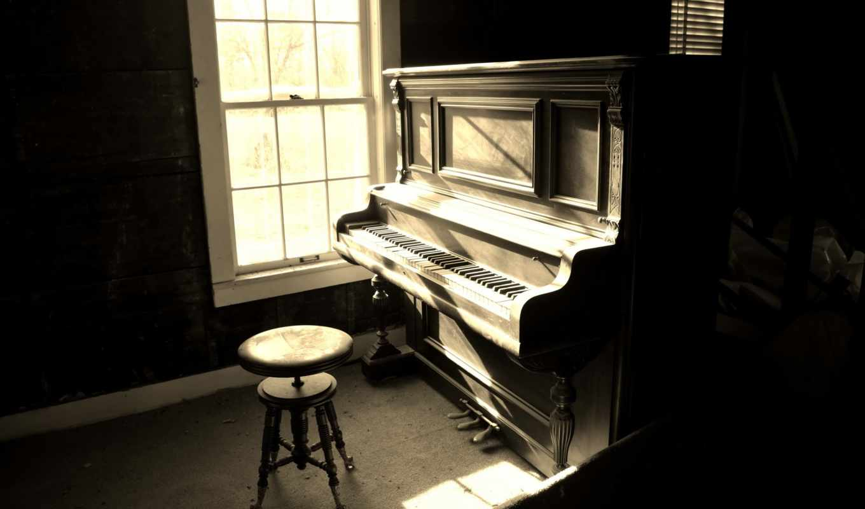 piano, музыка, комната,
