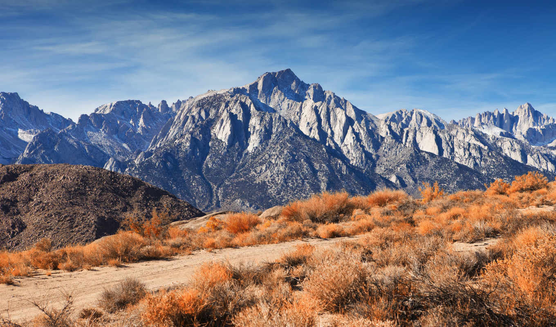гора, гряда, пейзажи -, горы, радующие, закат, спорт,