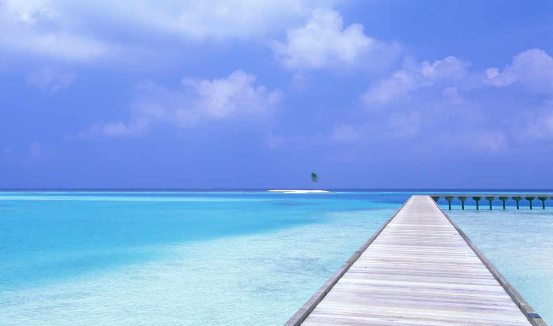 blue, небо, пляж, water, desktop,
