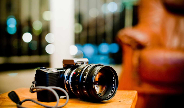 papel, parede, câmera, sony, fotografica, nex,