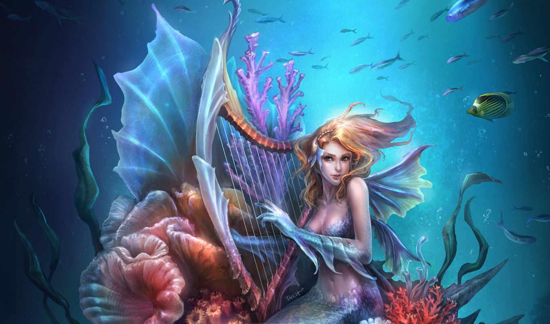 art, русалка, fantasy, deviantart, mermaids, melusina, naiads, ningyo, little, merman,