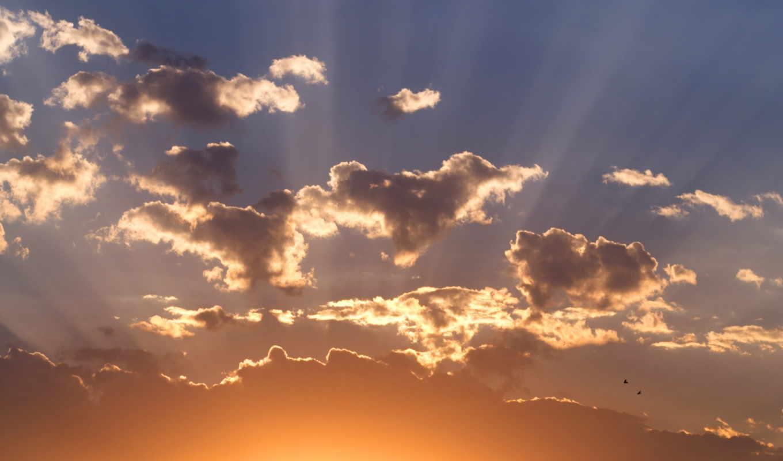 небо, sun, закат, свет, солнечный,