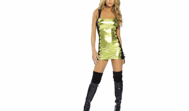 мини, blonde, платье, long, boots, devushki,