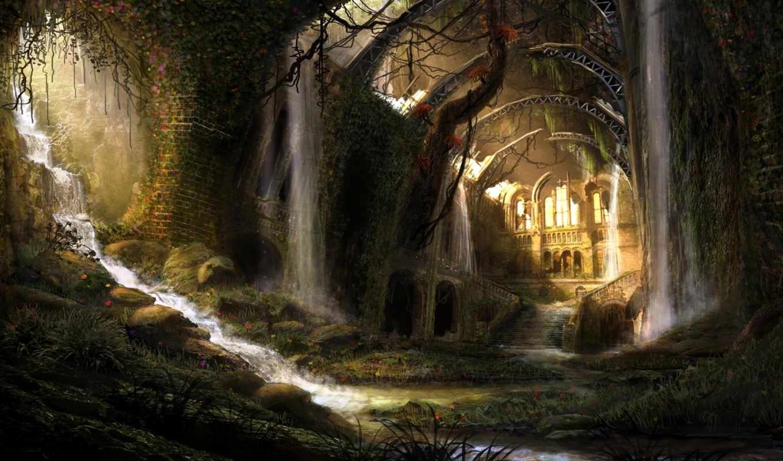 развалины, fantasy, pinterest, high, landscape, tirisfel,