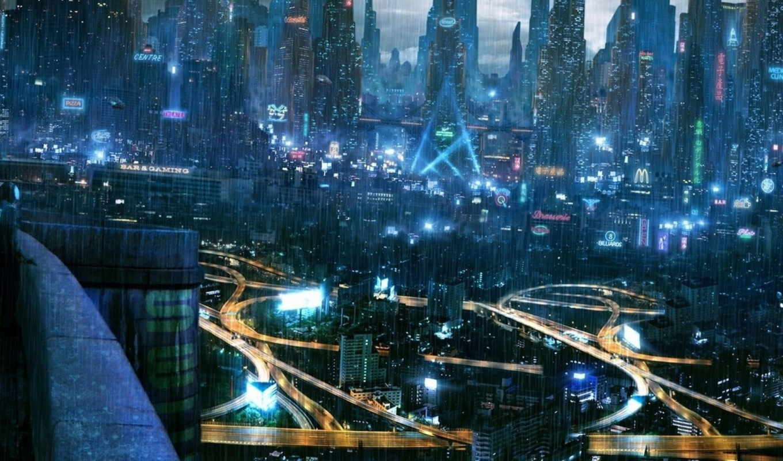 cyberpunk, город, pinterest, ночь, lore, журнале, futuristic,