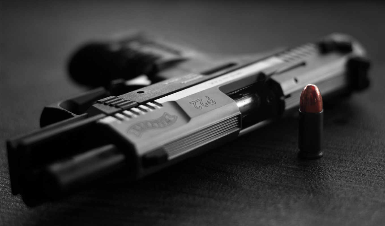 пистолет, walther, патрон, desktop, картинка,