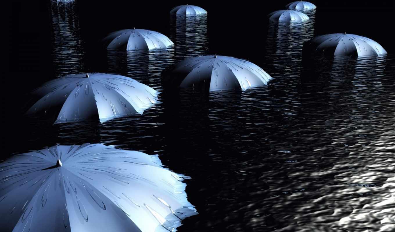 зонты, вода, umbrellas, umbrella, amazing,