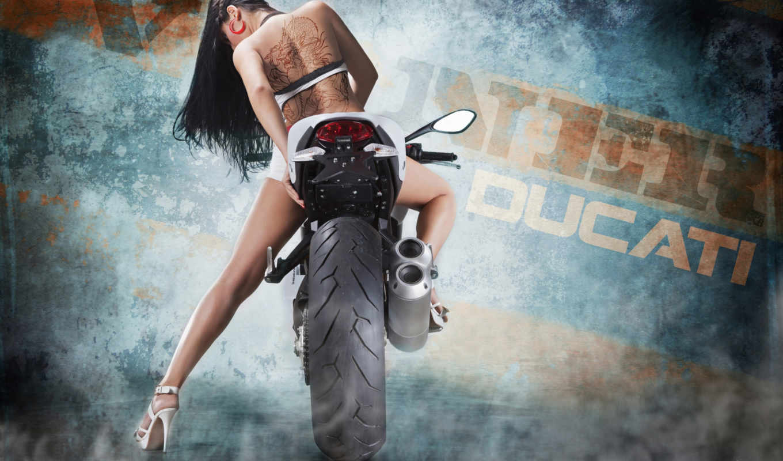 девушка, devushki, мотоциклы, мотоцикл, мотоцикле, татуировка,
