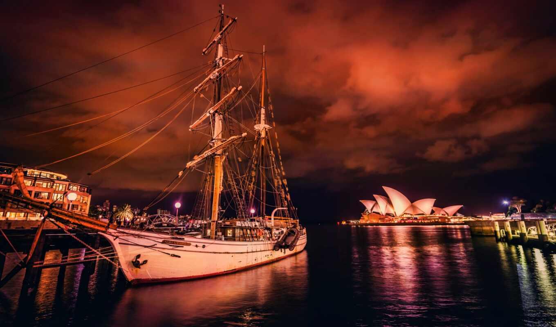 корабль, sailboat, плакат