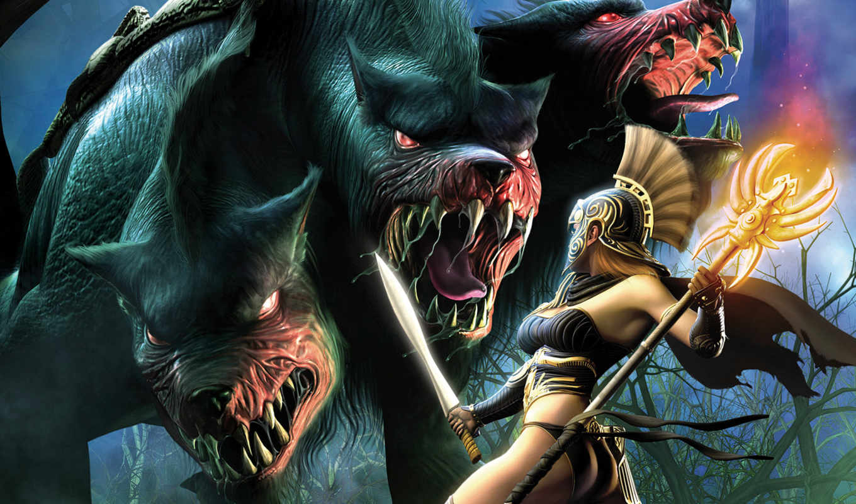 titan, quest, immortal, throne, игры, games, монстр, меч, девушка, посох,