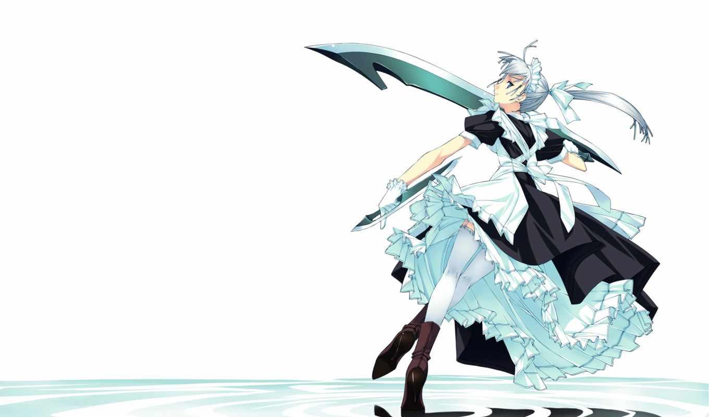 аниме, murakami, suigun, white, chan, maid, sama, women, part,